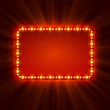 Shining Retro Light Banner.  V...
