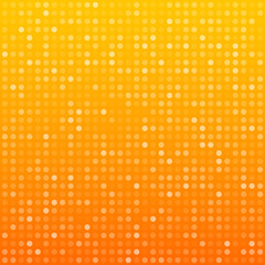 Circles orange technology pattern.