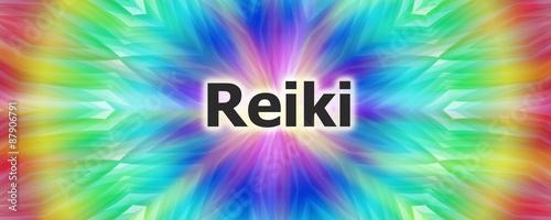 Photo  Reiki spiritual energy design