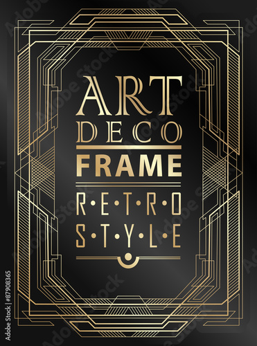 Photo  Art deco geometric