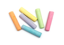 Chalks In A Variety Of Colors ...
