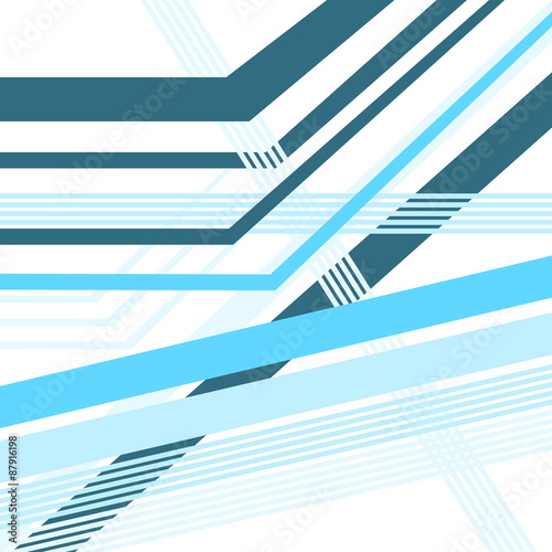 Photo  diagonal lines blue vector abstract background