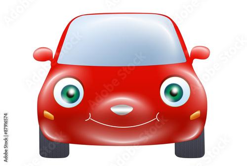 Staande foto Cartoon cars Red car