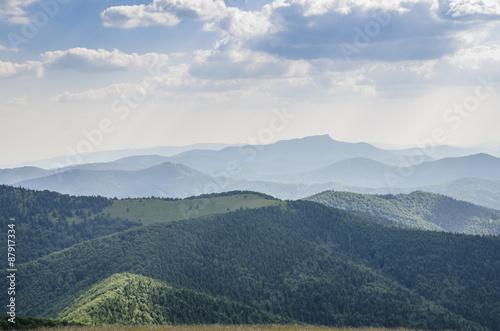 Keuken foto achterwand Heuvel Slovakian mountains in summer.