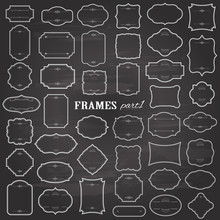 Blank Frames Mega Set On Chalk...