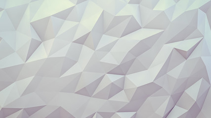 abstract 3d render background. Techno triangular low poly background