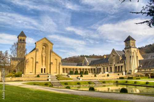 The abbey in Orval, Belgium is famous for its trappist beer, botanical garden an Wallpaper Mural