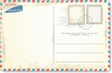 Postcard Vector In Air Mail St...