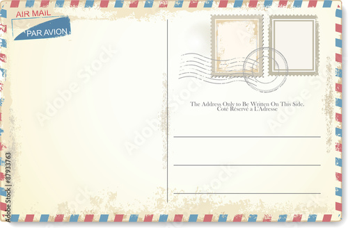 Postcard vector in air mail style Wallpaper Mural