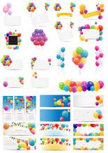 Color Glossy Balloons Card Meg...