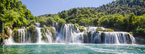 In de dag Watervallen Krka river waterfalls, Dalmatia, Croatia