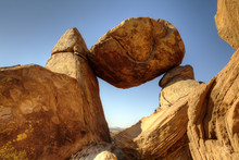Balanced Rock Big Bend National Park At The Grapevine Hills Trail. Image Is Made Using High Dynamic Range Techniques.