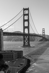 Fototapeta Golden Gate Bridge Black and White