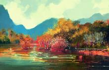 Painting Of Beautiful Autumn F...
