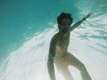 Young Handsome Man Outs Having Fun Underwater