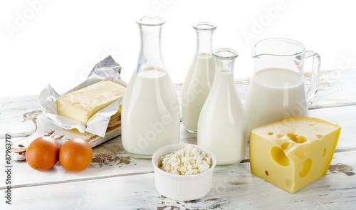 Poster Produit laitier Fresh Dairy products