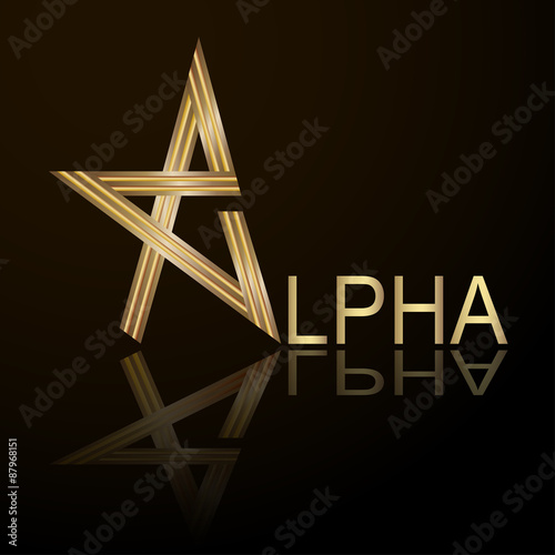 alpha letter stylized vector letter of the alphabet vector