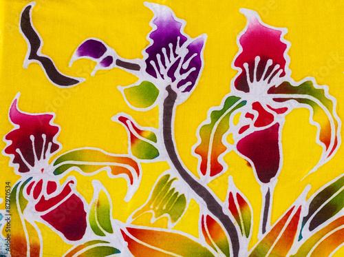 Batik style fabric - 87970534