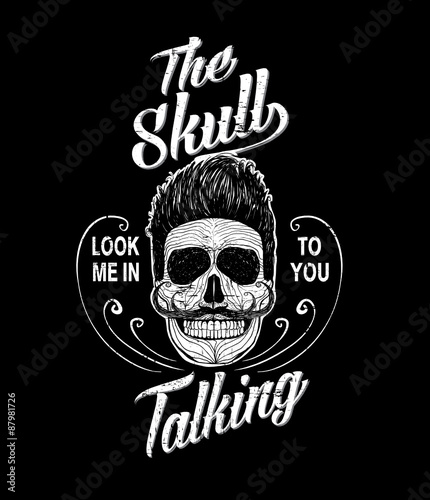 skull illustration a mark of the danger warning t shirt graphics