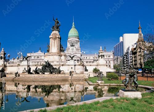 Deurstickers Buenos Aires ブエノスアイレスの国会議事堂