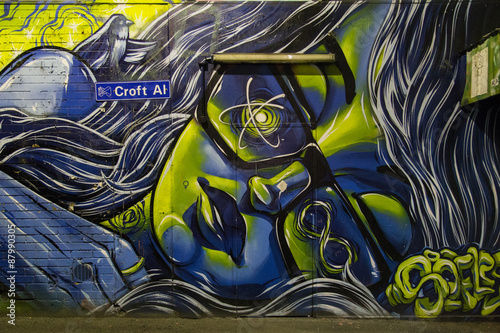 Photograph of a graffiti in the alleways of Melbourne, Australia.