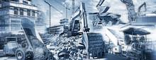 Baumaschinen Und Baustellen