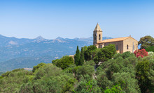 Church Of Figari Village, Corsica, France