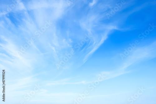 In de dag Ochtendgloren Blue sky background