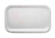 Top View Of Empty Foam Food Tray