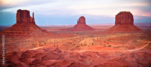 Spoed Foto op Canvas Koraal Monument Valley
