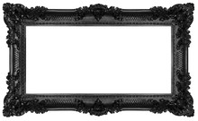 Rich Black Frame Isolated On W...