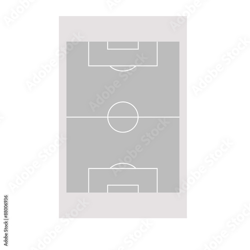gri basit futbol sahası Poster