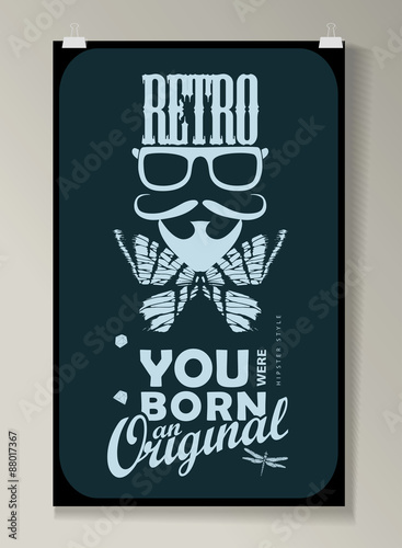 Staande foto Retro sign Hipster Quote infographic Background