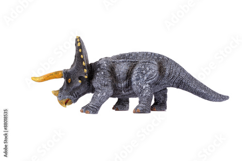 Dinosaur Toy Triceratops, isolated at white background
