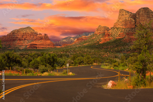 Foto auf Leinwand Arizona Sedona Arizona Sunrise