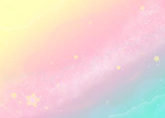 Fototapeta Kosmos パステルカラーの天の川 Pastel colored milkyway
