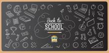 Chalk Drawn Back To School Ico...