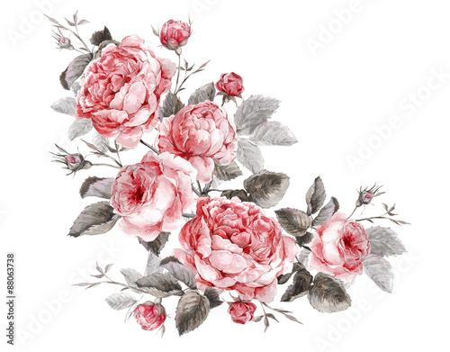klasyczny-wzor-kwiatowy-kartke-z-zyczeniami-akwarela-bukiet