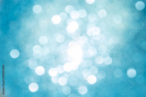 Abstract Christmas bokeh defocused silver and golden lights