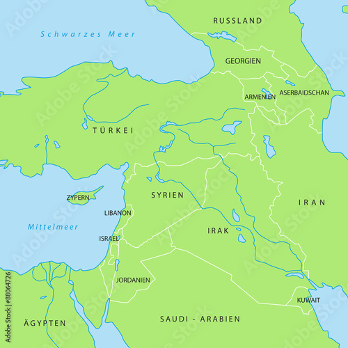 Karte Naher Osten Israel.Naher Osten Is Karte In Grun Buy This Stock Vector And