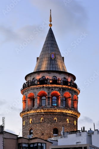 Galata Tower in evening-Istanbul Turkey Poster