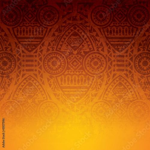 African art background design. Wall mural