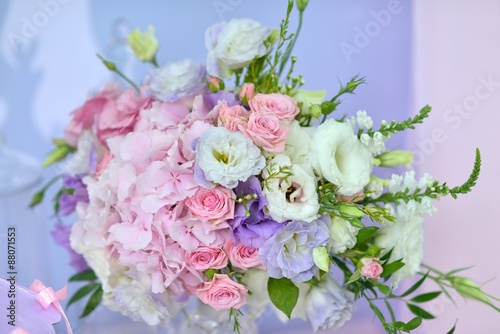 delicate bouquet of roses - 88071553