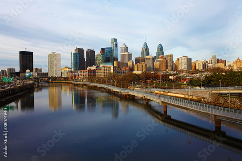 A panoramic view of Philadelphia, Pennsylvania skyline