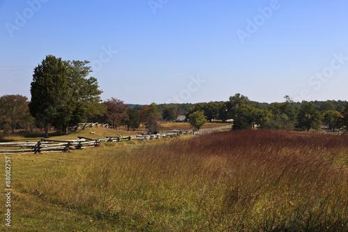 Fotografie, Obraz  The Richmond Lynchburg stage road at Appomattox Court House historic village, the Civil War surrender site