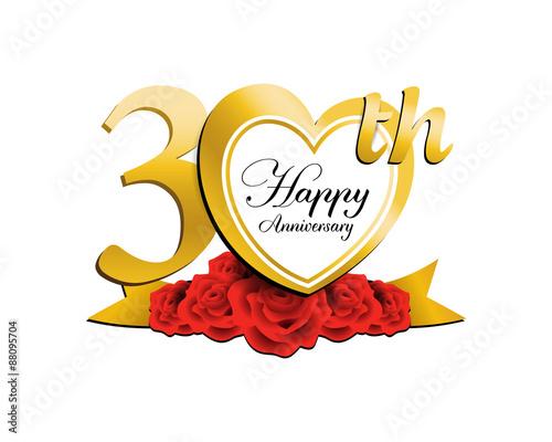 Wedding Anniversary Logo Heart 30 Buy This Stock Vector And Explore Similar Vectors At Adobe Stock Adobe Stock