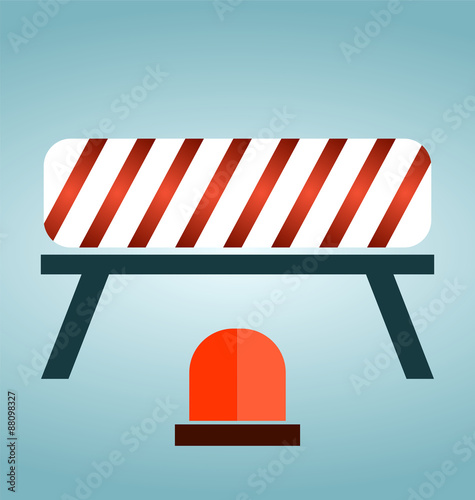 Red, white and striped road barrier,barricade, road block - Buy this