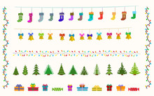 Garland Set Of Pixel Art For C...