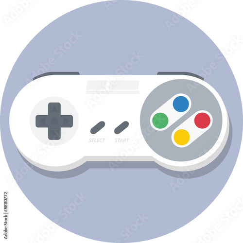 Photo  Super nintendo (SNES) gamepad (controller) flat icon