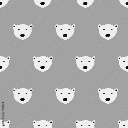 seamless  polar bear pattern